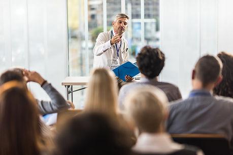 Doctor Teaching on Seminar