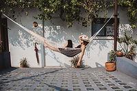 Relajarse en la hamaca