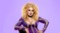 Drag Queen in Purple Outfit