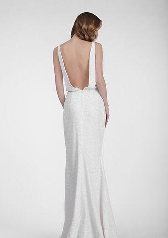Woman in Glitter White Dress