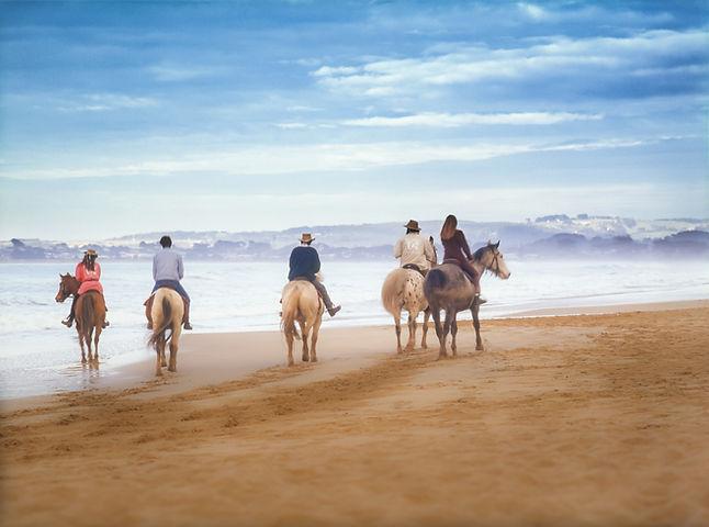 Riders on the Beach