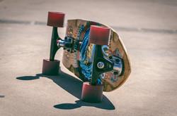 skateboard placed upside down