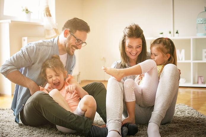 Speels gezin