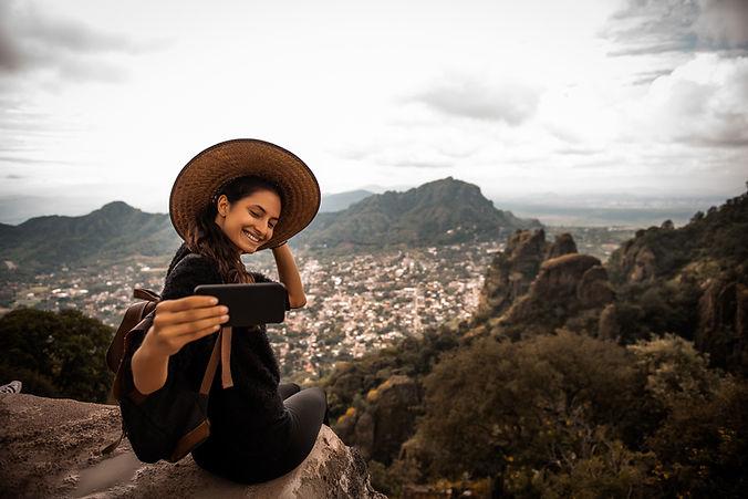 Selfie de viaje