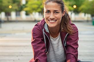 Portrait de femme souriante