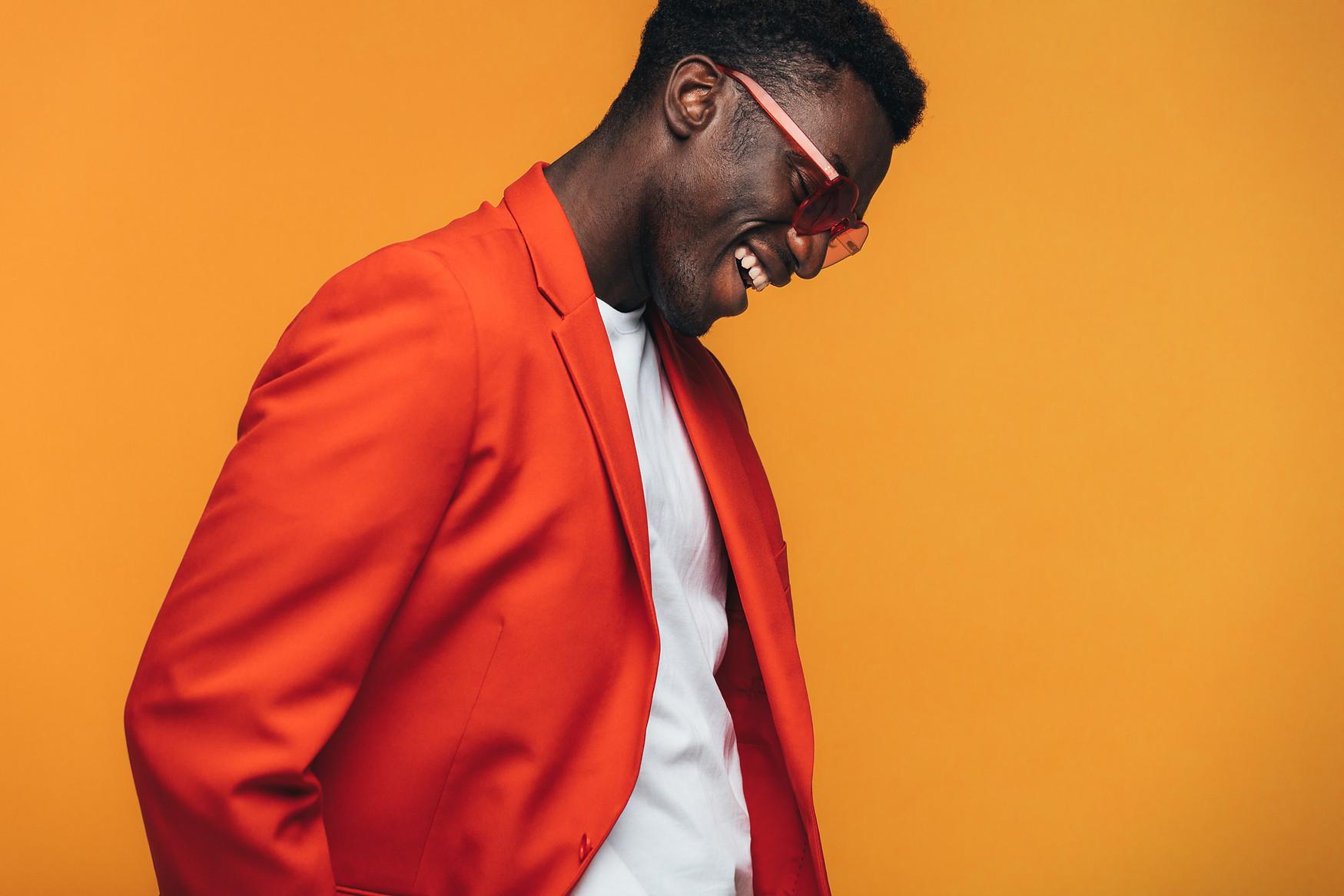Man in Orange Suit