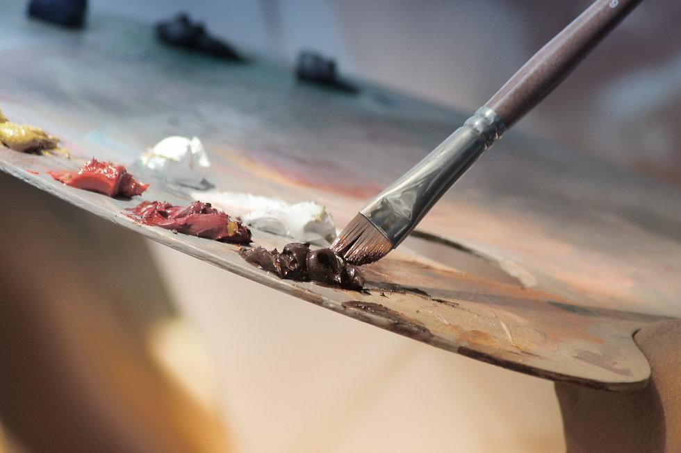 水彩画のパレット