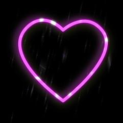 Neon pink heart!