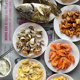 Meeresfrüchte Mahlzeit