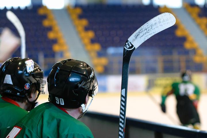 Les joueurs de roller hockey
