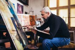 Pintor trabajando