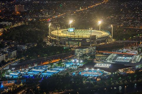Illuminated Stadium