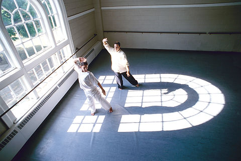 Tai Chi Practice Seen from above
