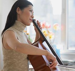 Woman Playing Chello