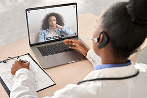 Two people on a video call