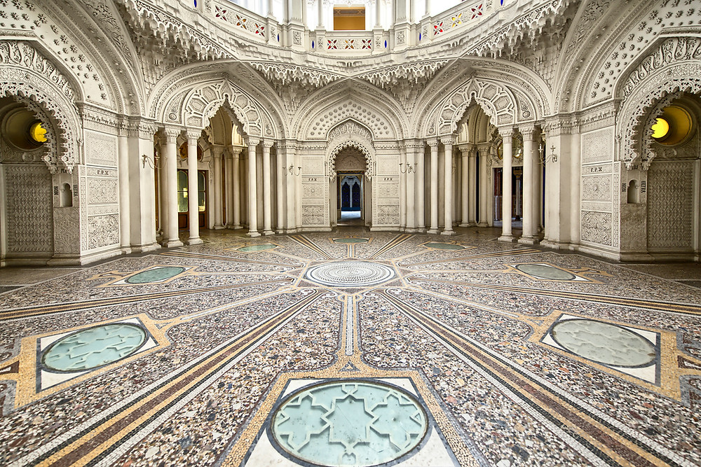 intricate floors of Mafra Palace