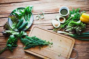 Kräuter und Gemüse