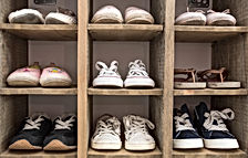 Kids Shoes in Cupboard