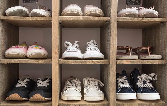Kids Shoes in Cupboard