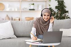 estudiando en línea