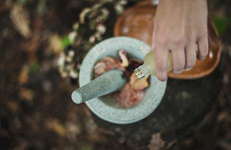 Steinmörser und Stampfe