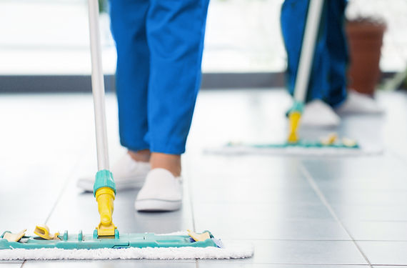 Cleaning with a Mop