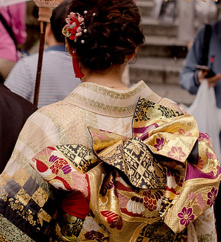Gold Pattern Kimono