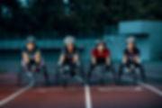 Coureurs en fauteuil roulant