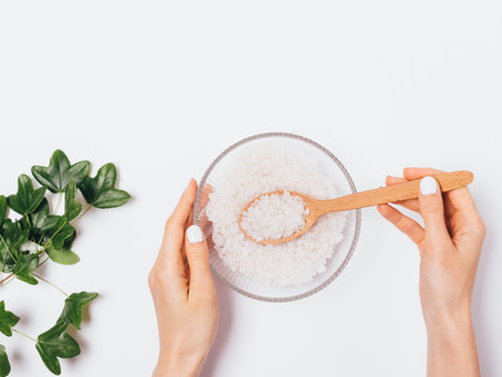 Homemade aromatherapy bath salts