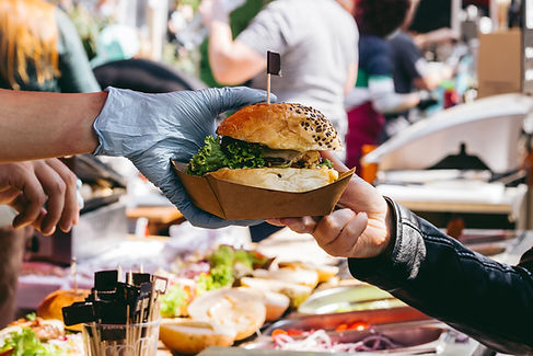 Burger Hand Off