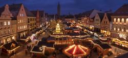 Kerstmarkt 's nachts