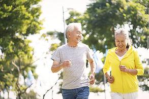 Old Couple Running
