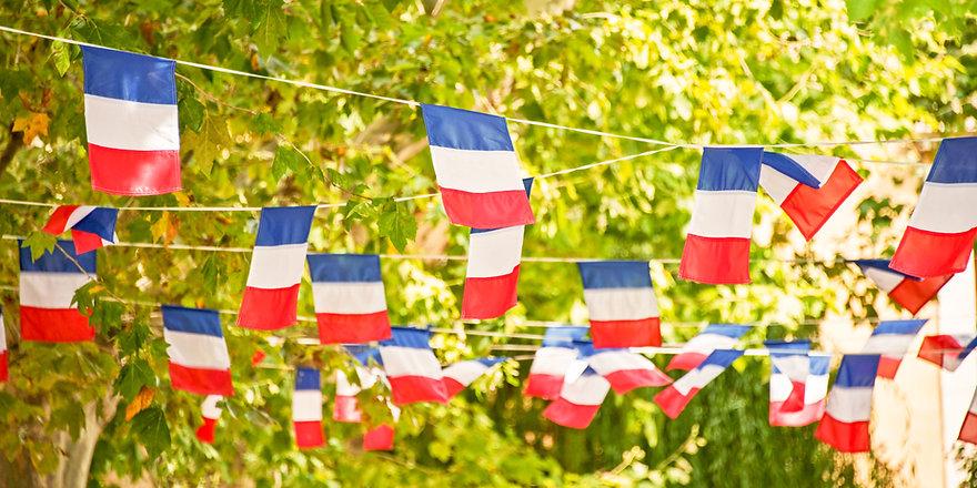 Guirlande de drapeaux français