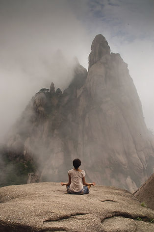 Meditating in Mountains