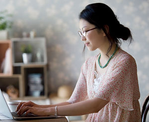 Woman on her Laptop