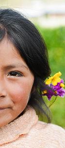 Cabello con flores
