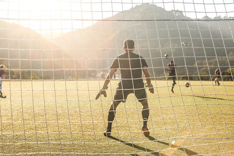 Goalie in Action