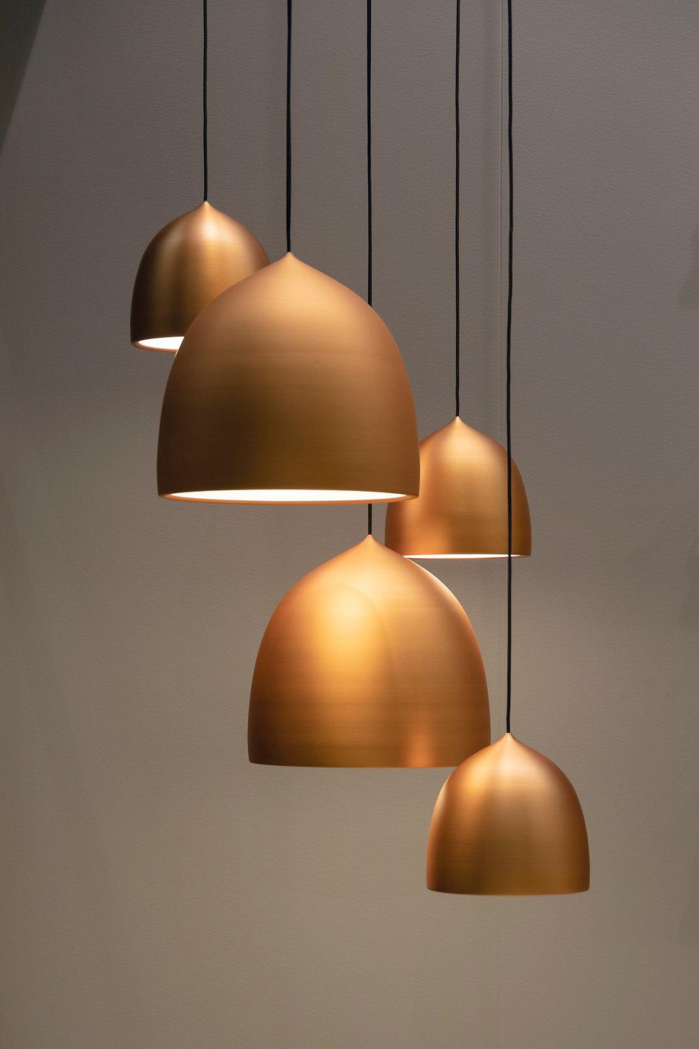 lampade in ottone