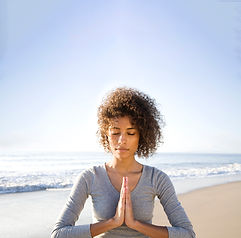 Meditating on Beach