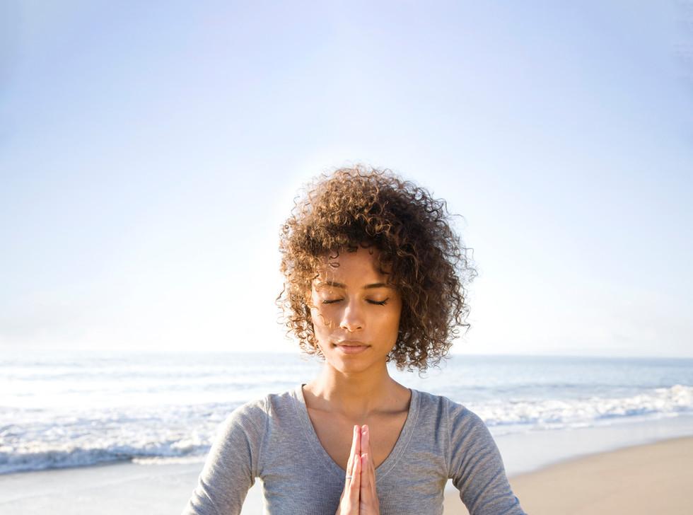 Meditating on Beach
