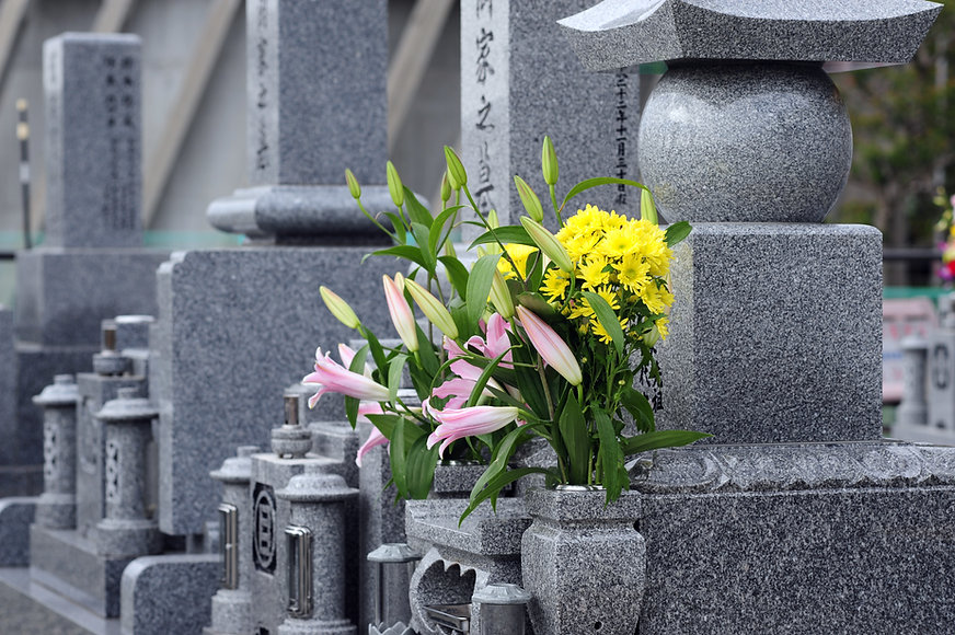 Flowers on a Tombstone