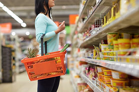 Image of woman doing grocery shopping
