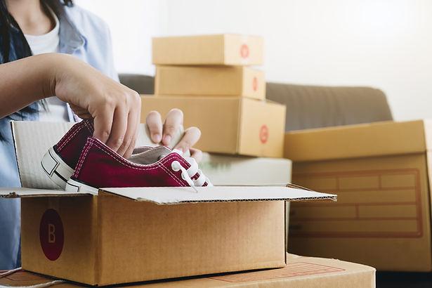 Schoenen uitpakken