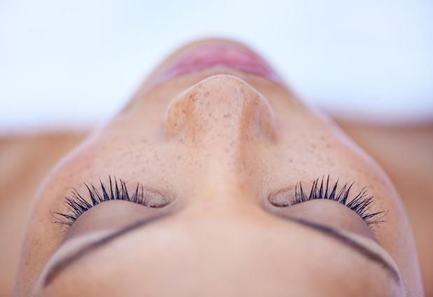 aerial view eyelash extensions