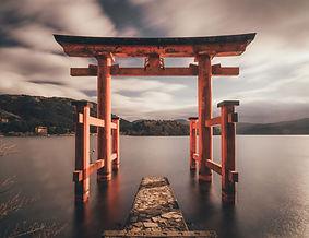 Puerta del santuario japonés