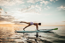 SUP Yoga and Clouds