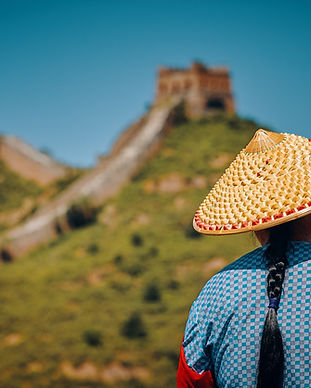 By the Great Wall of China