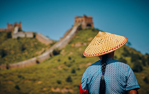 Bij de Grote Muur van China