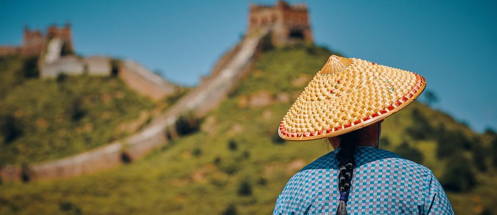 Por la gran muralla china