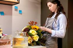 Florist Arranging Bouquet